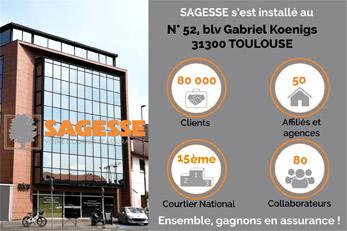 SAGESSE : nouvelle adresse à Toulouse