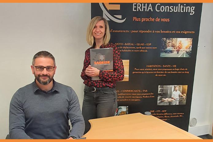ERHA Consulting - courtier en assurances Amiens - Cindy ERHARDT - Wesley TRELCAT - SAGESSE Réseau national de courtage en assurances